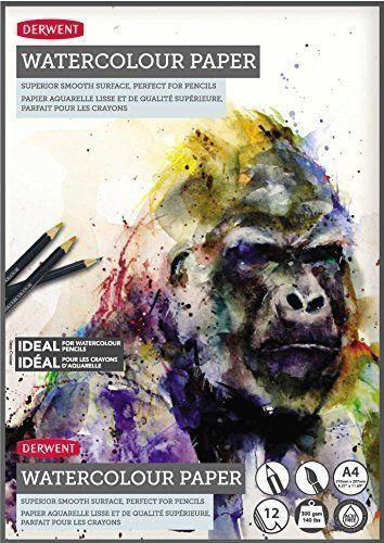 A4 Ideal for Inktense /& Artbar 140lb Derwent Watercolour Pad 300 gsm