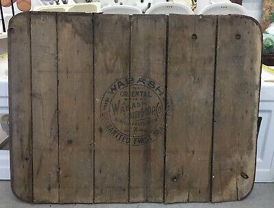 Wabash Screen Door Company Stove Board Advertising Antique