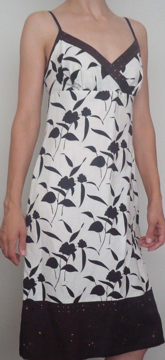 PAPAYA Womens Linen blend Sun Sleeveless Beige Dress Size 10 (A22)