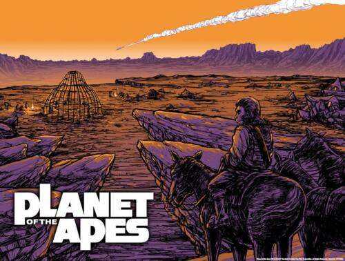 Planet of The Apes Falling Star GID Lithograph Poster Barry Blankenship #//300