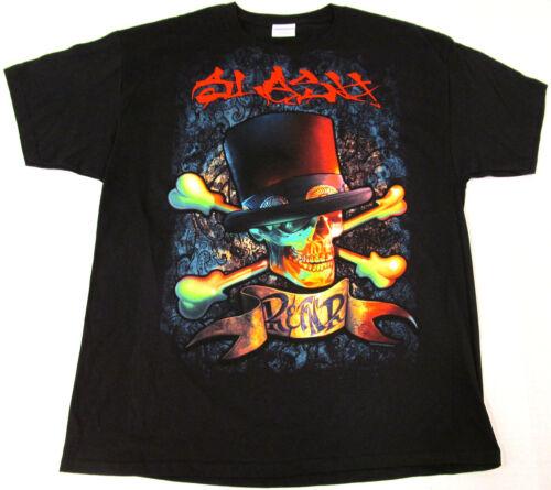 SLASH R/&FNR T-shirt Guns N Roses Hard Rock Heavy Metal Tee Adult XL Black New