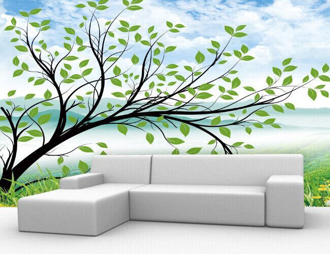 3D Handbemalt Baum 755 Tapete Wandgemälde Tapete Tapeten Bild Familie DE Summer