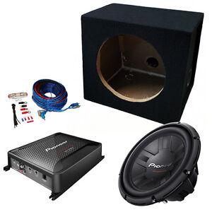 pioneer 10 single car subwoofer bass box 1200w package amplifier rh ebay co uk Custom Bass Wiring Kits Bass Guitar Wiring