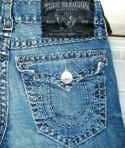 Hot Autentico Para Hombres True Religion Billy Super T Gr Bootcut Jeans Oscuro 31 X31 Ebay