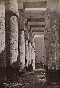 Egitto-Karnak-Foto-Di-Bechard-Albumina-IN-Piccolo-Formato-9x13cm-Ca-1880