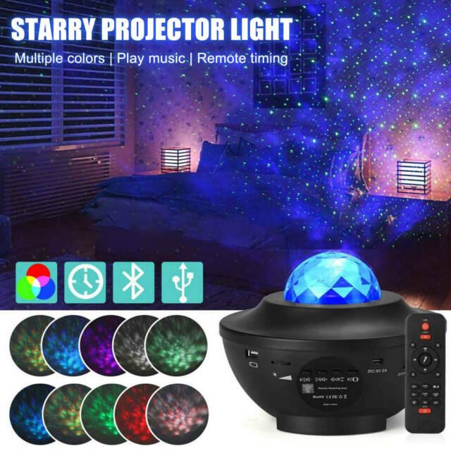 Starry Sky Night Lamp LED Galaxy Star Projector Night Light Ocean Wave Projector
