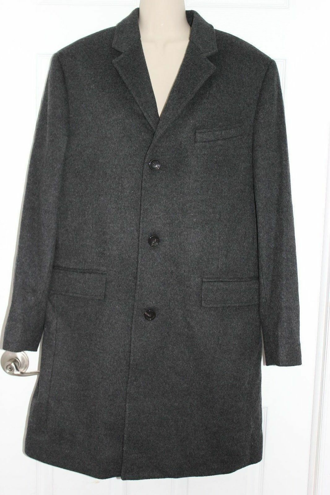 NEW JCrew  Crosby Topcoat in Italian Wool-Cashmere 40S Hthr Charcoal H2322