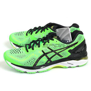 super popular 93db2 b975f Details about Asics GEL-Kayano 23 Green Gecko/Black/Safety Yellow Running  Shoes T646N-8590