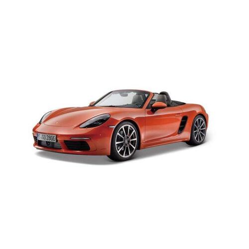 1:24 Modellauto NEU Bburago 21087 Porsche 718 Boxter orange Maßstab °
