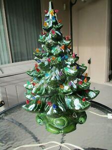 Details About Vintage Atlantic Mold Ceramic Christmas Tree Base 20 W Music Box Silent Night