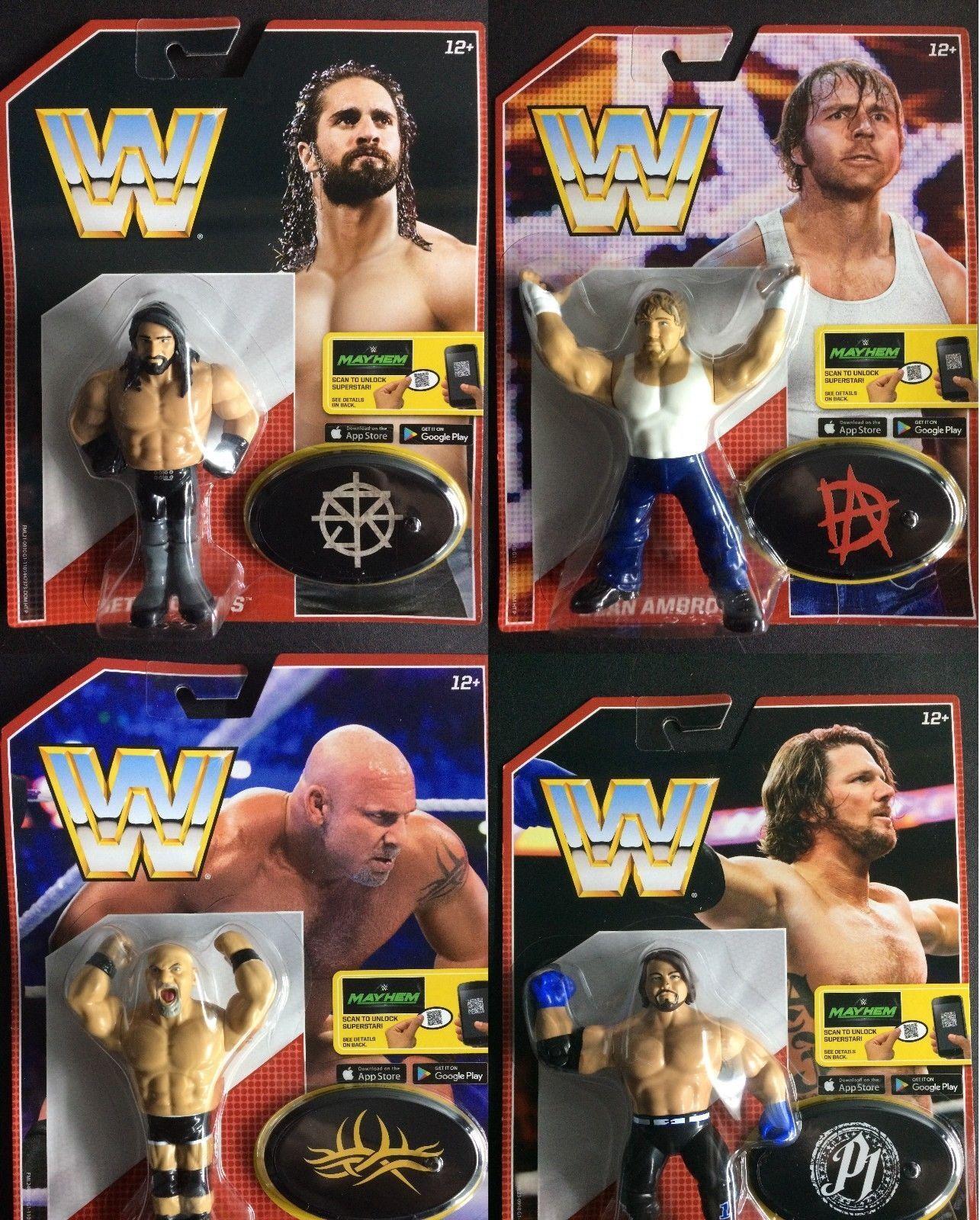 WWE TUTTE E 4 COMPLETO pacchetto MATTEL rétro SERIE 3 ACTION FIGURE WRESTLING