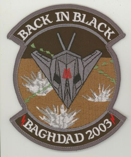 "F117 Stealth Baghdad 2003 Back in Black  AF Iraq Repro 4.25/""X3.5/"""