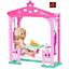 GAZEBO ALTALENA Barbie CLUB Chelsea PIC-NIC Playset bambola Coniglio FDB34 NUOVO IN SCATOLA