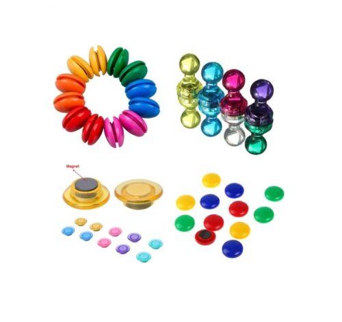 Frigo Aimant Memo Magma notice Board Round Button pin scanographie toutes Colours