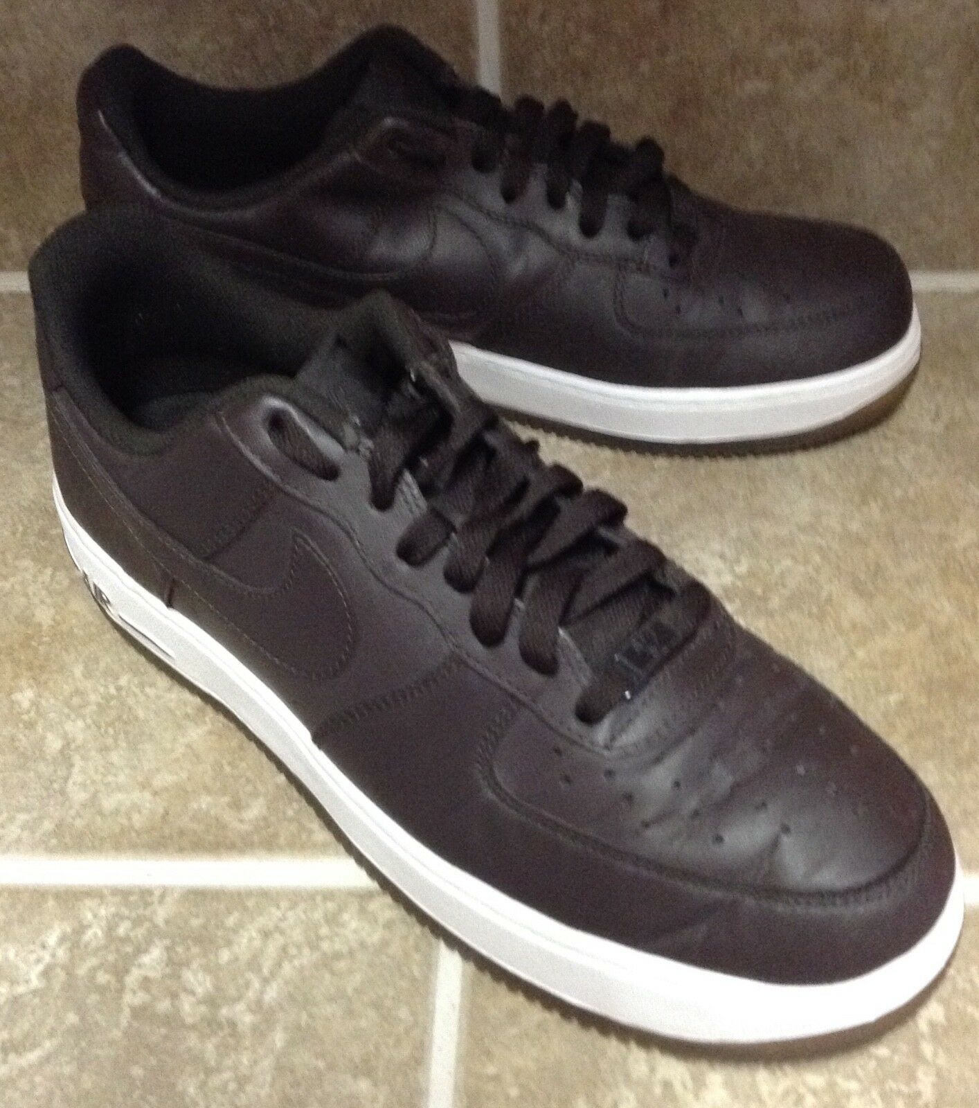NIKE AIR FORCE ONE LOW VELVET BROWN - WHITE MEN'S 9.5 SNEAKERS Price reduction Comfortable and good-looking