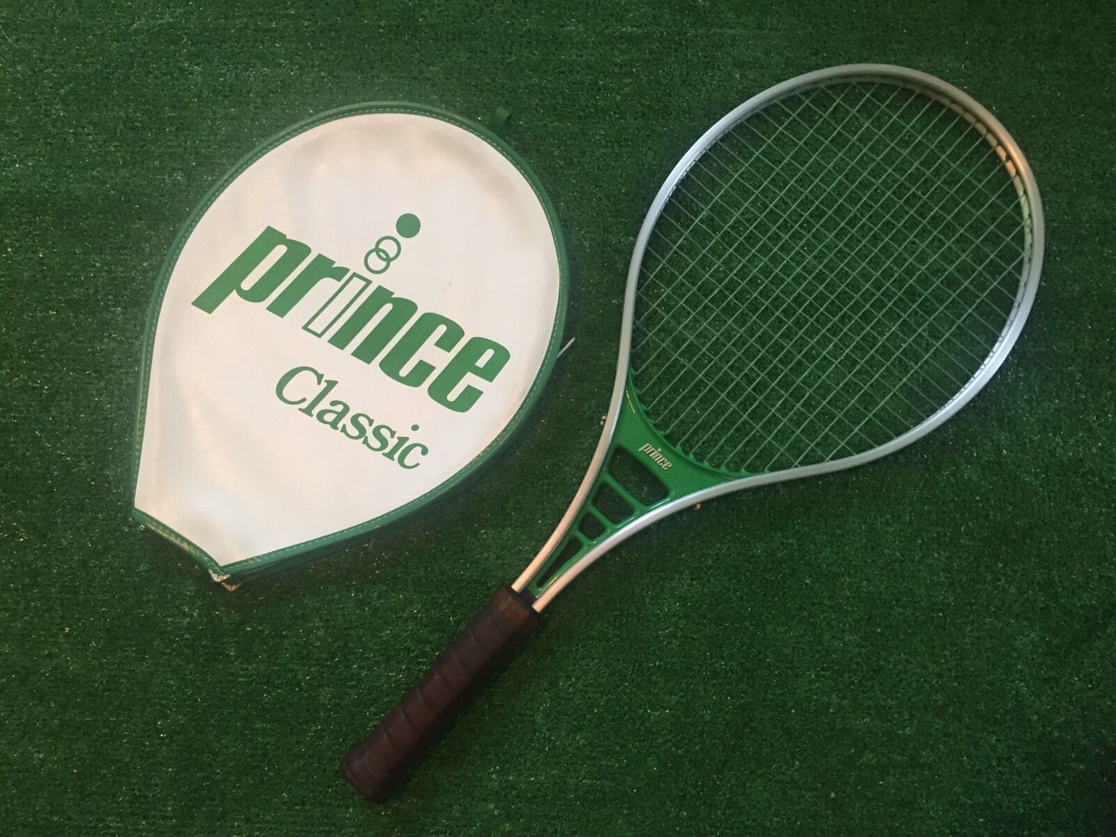Prince Classic Tennis Racquet 4 1 2 with Cover Used