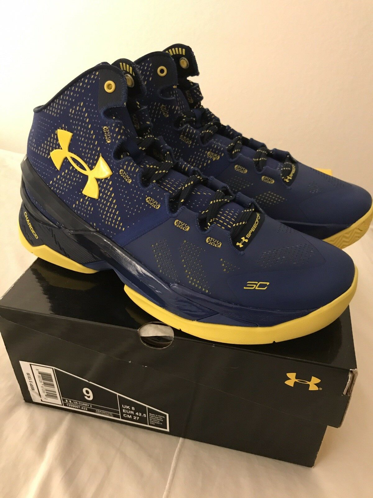 Under Armour Curry 2 Size 9 DubNation