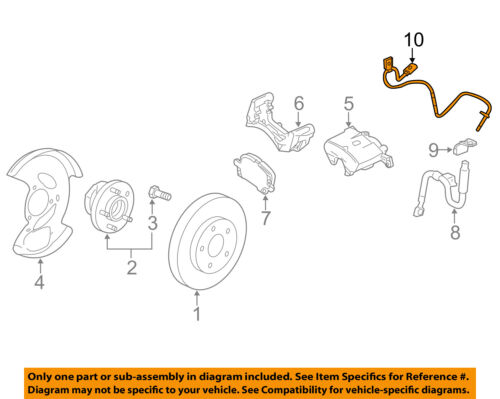GM OEM ABS Anti-lock Brakes-Front Speed Sensor 20811371