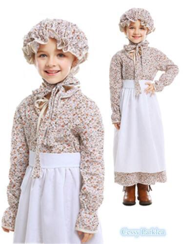 C2 Victorian Maid Old Lady Grandma Girl Classic Village Dress Book Day Costume