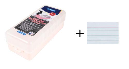500 Karteikarten DIN A8 rosa Lernbox Farbe Karteikasten