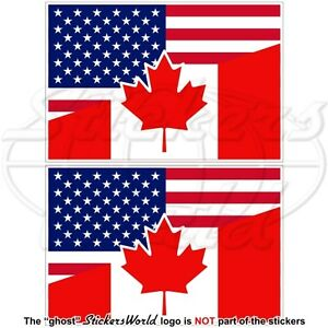 USA-United-States-America-CANADA-American-Canadian-Flag-Decals-75mm-x2-Stickers