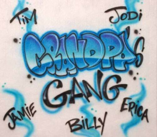 Airbrushed Grandpa/'s Gang Family T-Shirt Makes a GREAT Personalized Gift