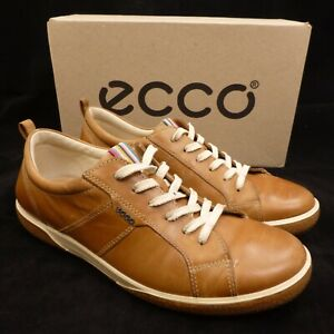 ECCO-Women-039-s-Natural-Brown-Leather-Sneakers-Comfort-Shoes-US-Size-8-5B-EU-39
