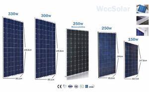 Placa Solar 150w 160w 250w 260w 300w 320w 330w Panel Solar
