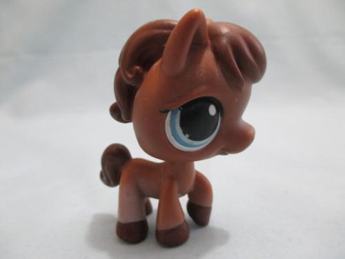 Littlest Pet Shop Horse Pony Brown 337 Authentic Lps