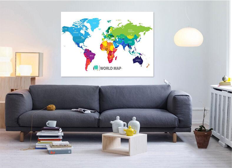 3D Farbige karte 633 Fototapeten Wandbild BildTapete Familie AJSTORE DE