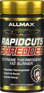 Allmax RAPIDCUTS SHREDDED FAT BURNER Thermogenic Weight Loss Rapid cuts