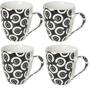 Set-di-4-PORCELLANA-EXTRA-LARGE-Zuppa-di-Caffe-Tazze-lavastoviglie-e-forno-a-microonde