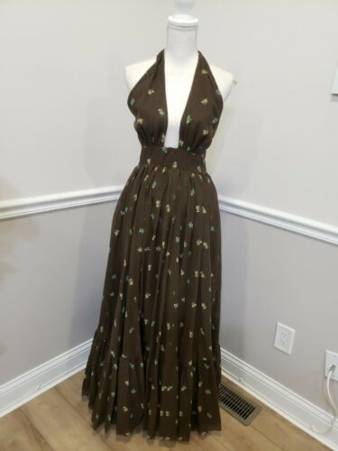 "VTG""Denise are There ""Floral Mod Maxi Folk Hippie"