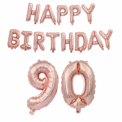 Rose Gold 18//21st//30//40//50 Latex Number Happy Birthday Balloons Party Curtain