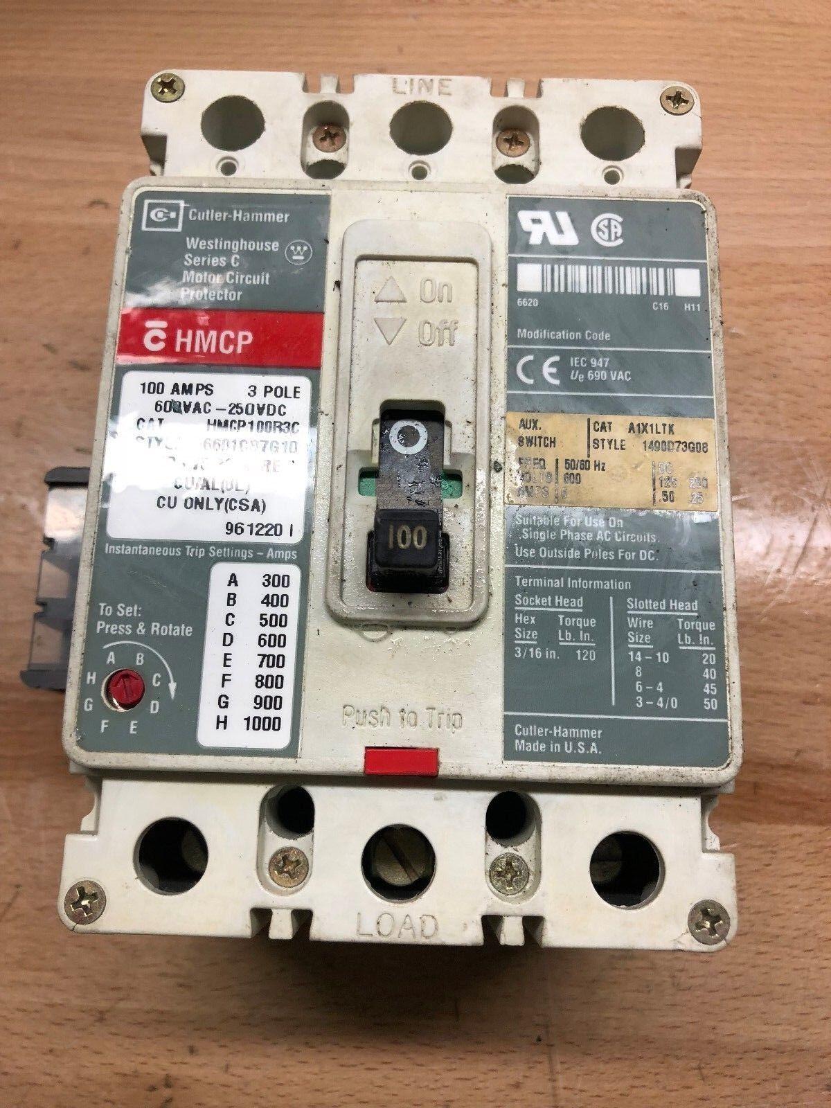 6601c87g10 Cutler Hammer 100 Amp Circuit Braker Nos Ebay Main Breaker Panel Stock Photo