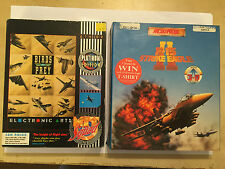 2x COMMODORE CBM AMIGA PC GAMES BIRDS OF PREY + F-15 STRIKE EAGLE II BIG BOXES