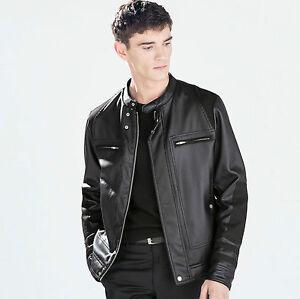 Zara 5475302 Motard S M Authentique Veste Noir L Cuir Homme Bnwt gwqZx4rFTg