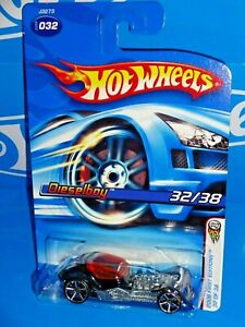 Hot-Wheels-2006-New-Models-Series-32-Dieselboy-Black-w-OH5SPs-White-Roof-Tampo