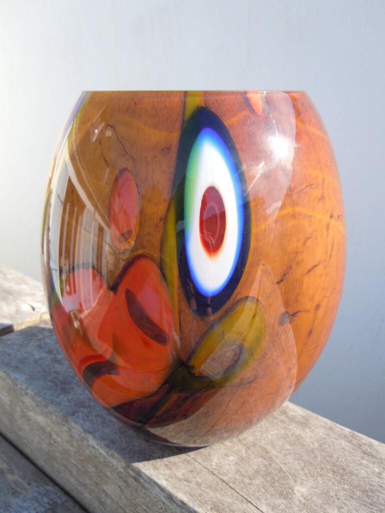 Vase verre multiFarbee style Murano
