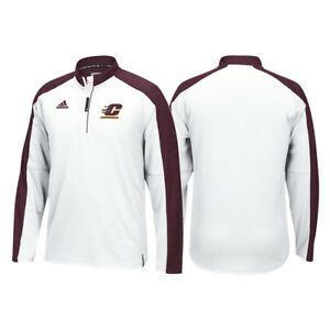 Central-Michigan-Chippewas-Adidas-NCAA-Men-039-s-White-Sideline-Climalite-Knit