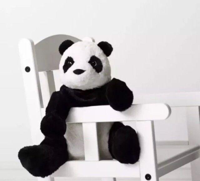 Ikea Soft Toy Panda Bear Plush Stuffed Animal Kramig Size 12 Inches