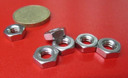 """316 Stainless Steel Thin Hex Nut 150 Pcs RH  1//4/""""-20 x 5//32/"""" Height"""