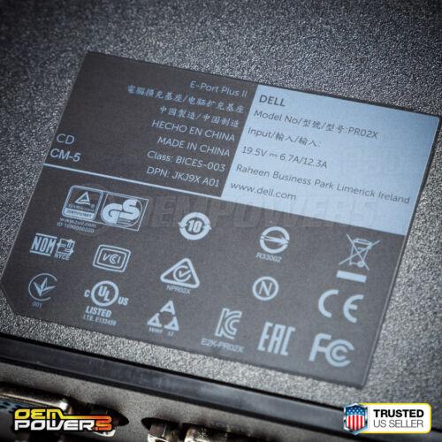 Dell USB 3.0 E-Port Plus M4800 M6400 M6700 M6800 3510 7510 7710  Docking Station