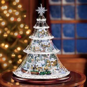 urlaub reflexionen zug weihnachtsbaum thomas kinkade. Black Bedroom Furniture Sets. Home Design Ideas
