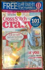 Cross Stitch Crazy Oh So Cute Hot Air Balloon Card Kit Oct 2015 FREE SHIPPING!