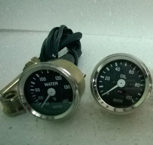 "Temp Oil pressure Gauge Smiths Replica 52 mm 2 1//16/"" Gauges Kit"
