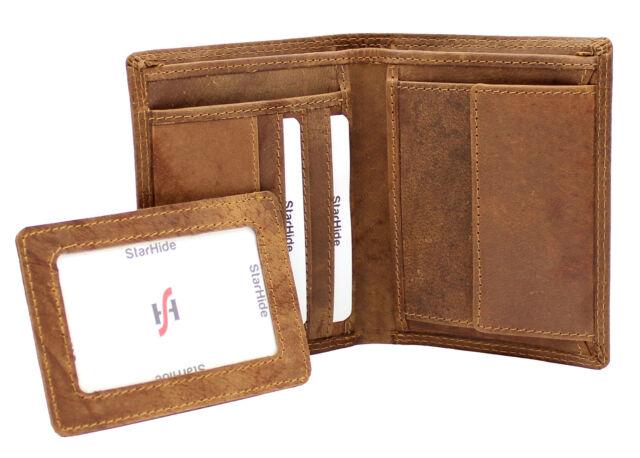 2d7b14379551 Mens RFID SAFE High Quality Brown Distressed Hunter Vintage Leather Wallet  1090