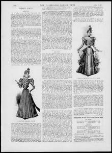 1897-Antique-Print-FASHION-Cashmere-Costume-Grenadine-Ecru-Guipure-Dress-186