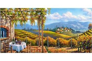 "Puzzle 4000 pieces 68*138cm ""Vineyard villadge"" Castorland С-400249"