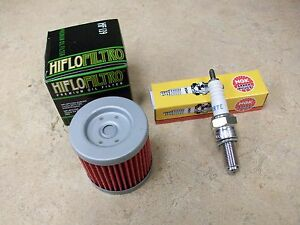 2003-2009 SUZUKI LTZ 400 TUNE UP KIT HIFLOFILTRO OIL FILTER NGK CR7E ...